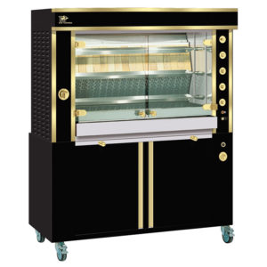 Rotisserie 1375 2MLG black and brass