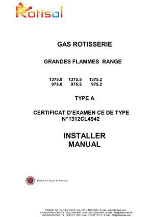 INSTALLATION MANUAL – GAS